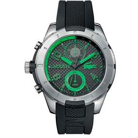 Relógio Lacoste Borracha Preto E Verde Masculino La00000508