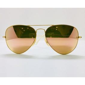 Ray Ban Aviador 3025 Tam 55 Pequeno Dourado Com Rosa Origina 6bcd815873