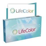 Lente De Contato Colorida Life Color Cinza, Azul, Mel, Verde