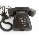 Telefone Ericsson Antigo Preto Em Baquelite.