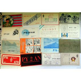 Lote Com 190 Cartões Radio Amador - Maioria Decada 1970