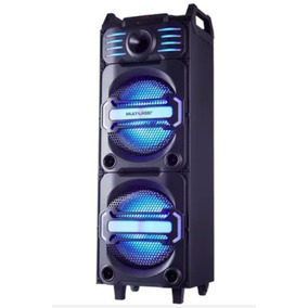 Caixa Amplificada Bluetooth 350w Dj Mixer Multilaser Sp285
