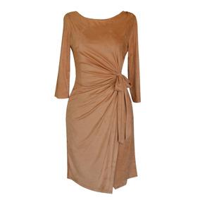 Vestido Dama Plisado, Tela Estilo Suede, Yocelyn