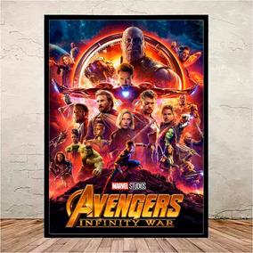 Poster Quadro Guerra Infinita Moldura E Vidro - 45x35 Cm