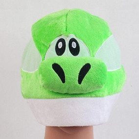 Super Mario Bros Green Yoshi Suave Peluche Tapa Figura -6093