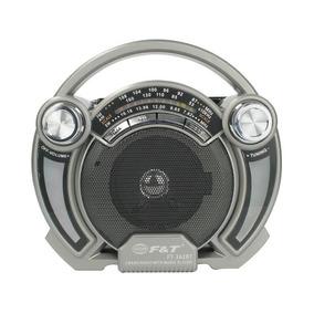Bocina Portatil Buetooth Radio Am Fm Luces Led Y Asa - Te283