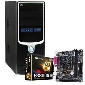 Pc Oficina Mother + Micro Amd E2-3800 Quad Core 8gb 1 Tb Apu
