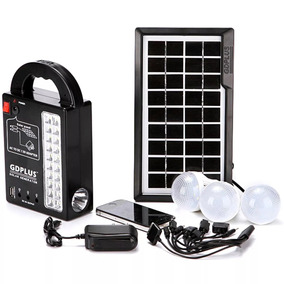 Kit Solar Completo Pronto Para Uso Camping Luz De Emergência