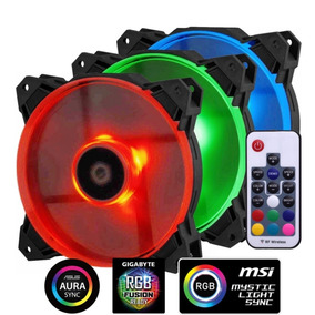 Kit 3 Cooler Rgb Pwm Id-cooling Sf-12025 Trio Envio Gratis