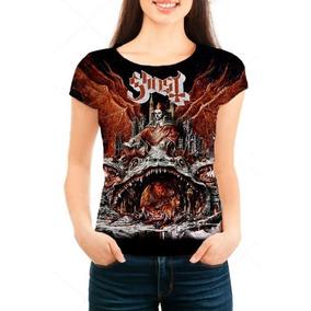 Camiseta Babylook Feminina Banda Ghost - Prequelle - Música