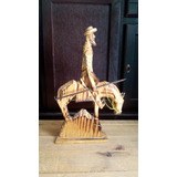 Artesanía Del Quijote De La Mancha Estatua De Madera Adorno