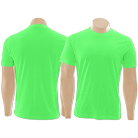 488e2a327ec73 3 Camisetas Básica Dry Fit Fluorescente Neon Poliéster E G · 4 cores