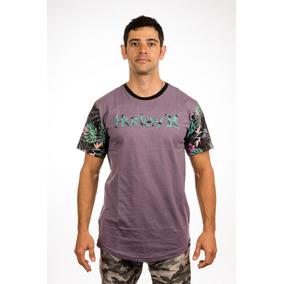 Camiseta Hurley Drop Flowers Long Line Especial 8b706311da2