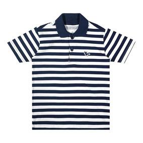 0fcccda85e2c3 Camisa Marisol Polo Play Listrada Menino Azul