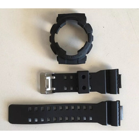 c5a72fb9650 Kit Capa pulseira Casio G Shock Ga 110 Ga 100 Gd 100 Preto ...