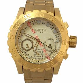 6958f6284ddde Relogios Dourados Masculinos Funcionais - Relógios De Pulso no ...