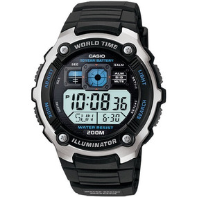 Relogio Casio Quartz Lcd Cronometro Illuminator Ae2000w1av