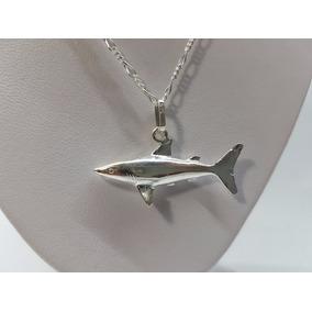 Dije De Tiburon Shark Plata Ley .925 Incluye Cadena