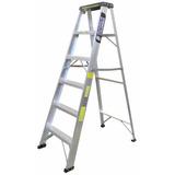 Escaleras De Tijeras En Aluminio Comercial 6 Pies
