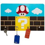 Porta Chaves Decoração Sala Parede Super Mario Com Ímãs
