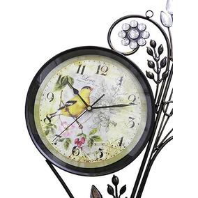 049b382efd6 Relogio De Parede Vintage Retro Para Decoracao Grande Flor ...