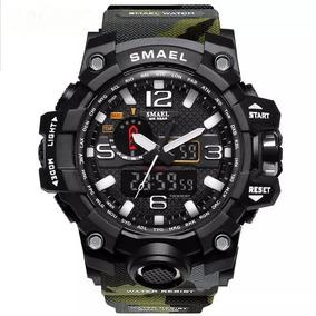 Relógio Militar Shock Esportivo Digital Original Smael 1545