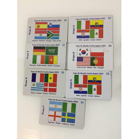 Cartões De Telefone Copa Do Mundo 2002