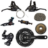 Kit Bike 21v Shimano Tourney Rapi Fire Pedivela Cambio Ty300