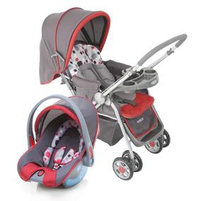 Carrinho De Bebê Travel System Reverse Vermelho - Cosco