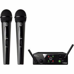 Wms40mini Vocal Set Akg Micrófono Sistema Inalámbrico Doble