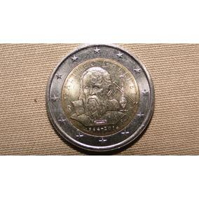 Belíssima Moeda Italiana Comemorativa De Galileo Galilei