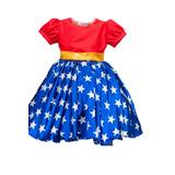 Vestido Da Mulher Maravilha Infantil
