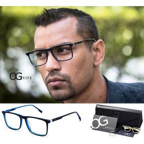 beec62df6a514 Armação Oculos Ogrife Og 481-c Masculino Com Lente Sem Grau · R  90