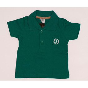 c8e8bde4a2e66 Camiseta Polo Verde Escuro Lisa Infantil - Camisetas e Blusas no ...