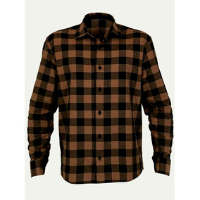 e7edc337420 Camisa Xadrez Marrom - Camisa Manga Longa no Mercado Livre Brasil