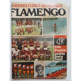Revista Grandes Clubes Brasileiros Flamengo Com Poster