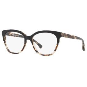 2b8ba83694cd7 Armação Oculos Grau Emporio Armani Meio Aro Aste Acetato - Óculos no ...