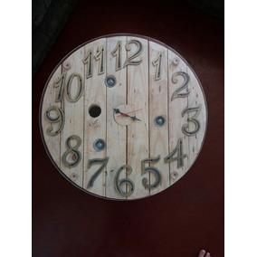 Mesa De Centro Relógio Feita De Bobina, Números De Ferro.