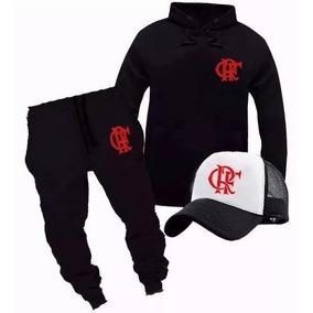 Blusa Flamengo Moletom+calça+boné Conjunto Esportivo c996d0e5bb96b