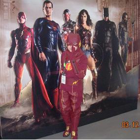 Cosplay Fantasia Flash Botas Completa Liga Justiça Tam 14