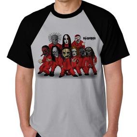 Slipknot Camiseta Raglan Banda Rock Camisa Blusa Unissex Lol 2b68ab585cc3c