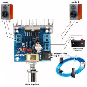 Amplificador Digital 30w Rms 2 Canais Tda7297 Fliperama Pc