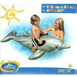 Boia Bote Inflável Golfinho Com Alça Piscina Intex 58535