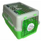 Transportadora Kennel Verde Perros Y Gatos 50x32x32cm 2 Ptas