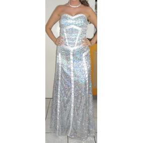 Vestido Longo Paetê Prata Sherri Hill Inspired