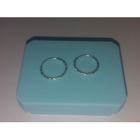 Arracadas De Plata De 1.2 Cm Y 1mm De Grueso Envio Gratis
