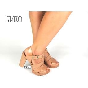 Sandália Salto Modelos Variados - Queima De Estoque