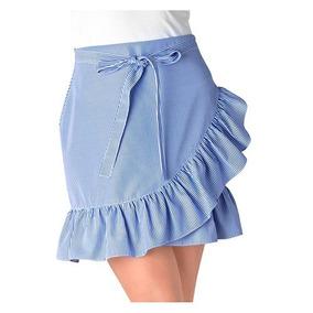 Falda Casual Dama Gsv 7726 Azul Chi-xgd 87748 T3