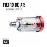 Mini Filtro De Ar Pistola Pintura Rosca 1/4 50 Uni