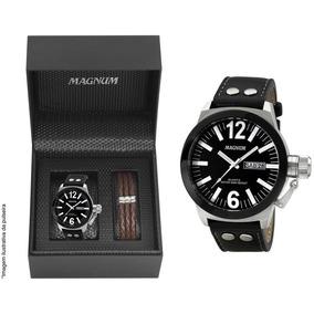 Relógio Magnum Masculino Military Ma31533c + Brinde + Nota